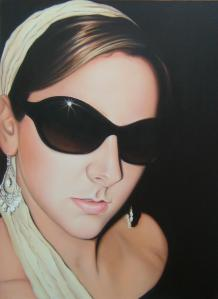 Breakfast at Tiffany's oil on canvas Original SOLD Print only £100